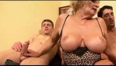 Super-steamy granny gets smashed