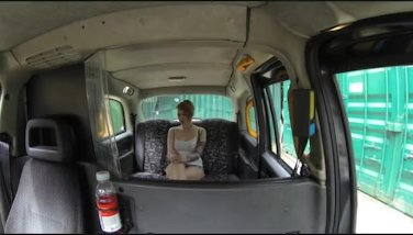 Faketaxi  girl-on-girl trys a giant manmeat