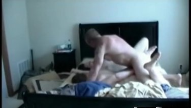 Amateur wifey in a real threesome.