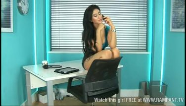 Red-hot indian stunner zohra as assistant in office