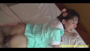 Bucktooth jav teenage miruku plump bum college girl gets internal cumshot sprays it