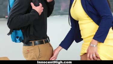 Innocenthigh  super hot mummy teacher tears up college girl