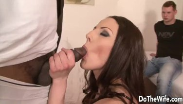 Crazy wifey gets anal invasion by dark-hued man