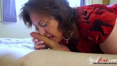 Agedlove big-boobed mature toying stiff with comfortable stud