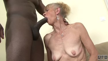 Granny Nailed Firm In Her Culo By Ebony Man She Gets Creampied