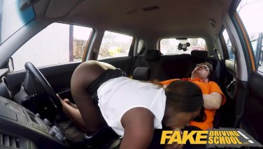 Faux Driving College Scorching Dark-hued Jai James With Massive Titties Cant Drive