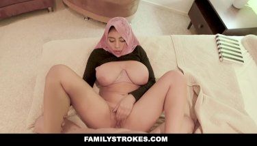 Familystrokes  pakistani wifey rails spunk-pump in hijab