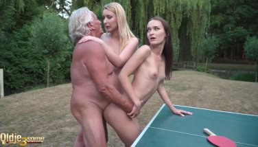 Nasty Teenagers Banged Together Ample Old Grandpa Rigid And Make Him Jizm