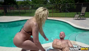 Ryan conner gets a internal ejaculation by the pool