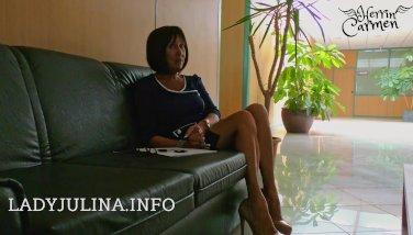 Office Dominatrix High Stilettos Nylons Job Interview Lecksklave