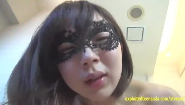 Jav fledgling hatsume romps whilst shes on the phone wearing eye mask