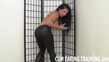 Spunk guzzling and cei female dominance pornography