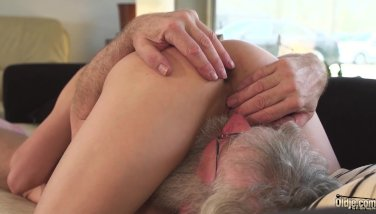 Old And Youthfull Porno Teenage Gf Deep-throats Grandpa Trouser Snake Makes Him Jizz Firm