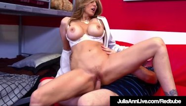 Mischievous Mummy Tutor Julia Ann Deep Throats And Boinks Her Pupil