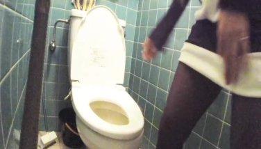 Japanese youthful gal hidden cam rest room squeak video