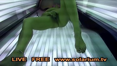 Super hot crazy gal milks in public solarium spy hidden spycam web cam