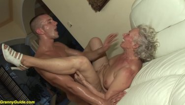 Granny in her very first pornography flick