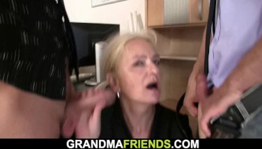 Old lean towheaded granny dual intrusion